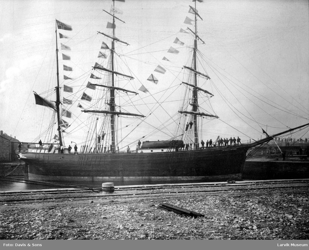 "fartøy, seilskip, bark ""La Ville Ostende"""