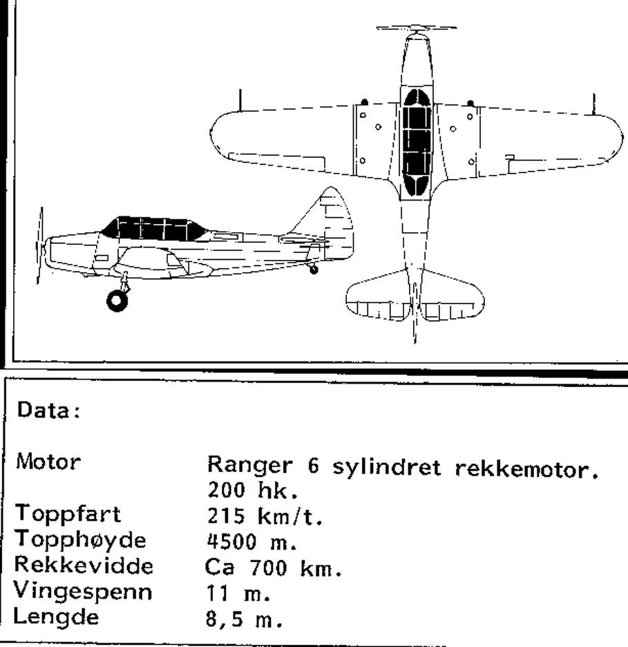 Treplanskisse, Fairchild PT-19A Cornell.