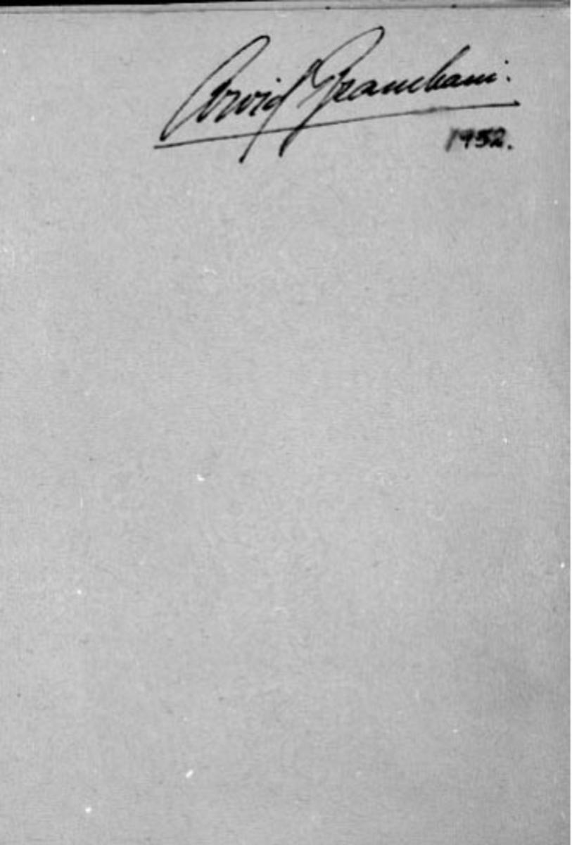 Repro fra fotoalbum. Signatur: Arvid Brambani 1952.
