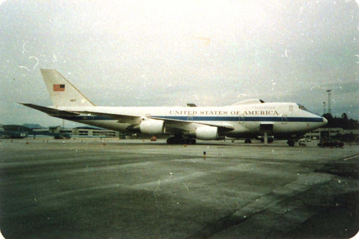 Lufthavn, 1 fly på bakken Boeing 747 (spes) United States of America