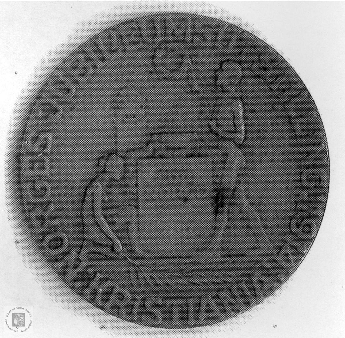 Medalje Jubileumsutstillingen Kristiania.
