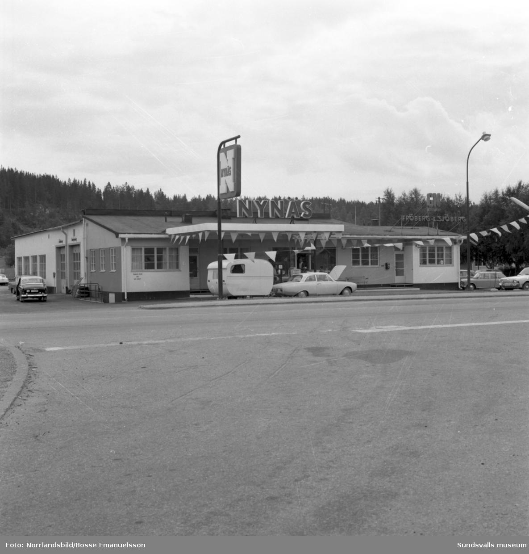 Nynäs-macken i Sörberge med verkstad och Fröberg & Sjöberg.
