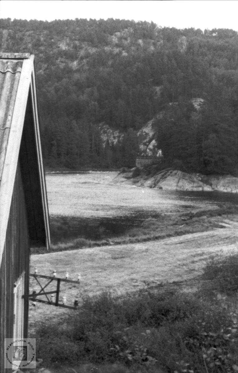 Mandalselva ved Laudal før kraftutbygginga.