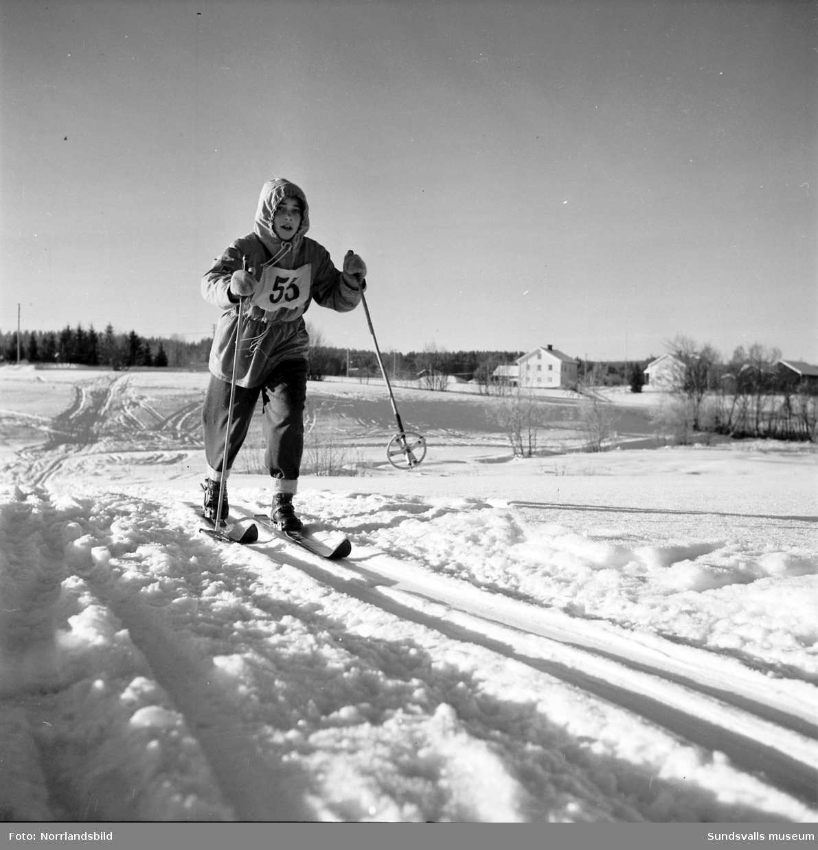 Skidtävling för juniorer i Matfors. Bilder från spåren och prisutdelningen.