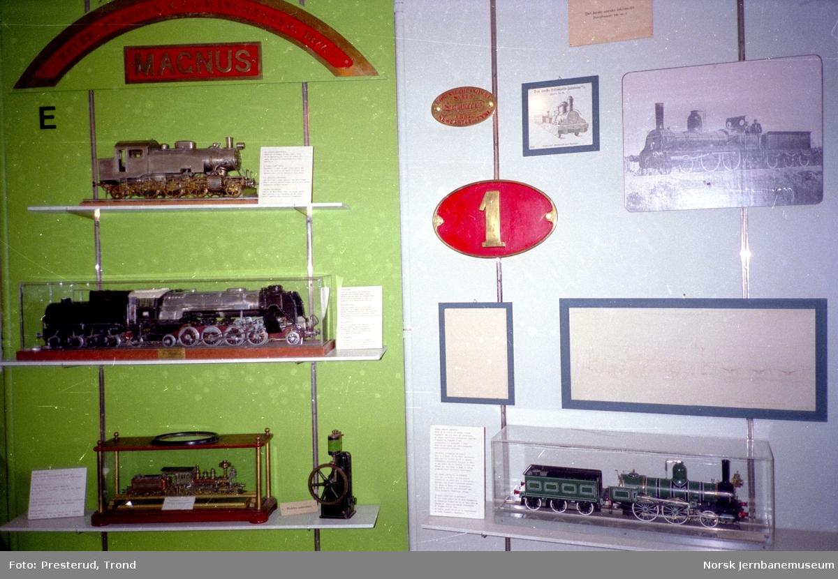 Jernbanemuseet - lokomotiv- og vognmodeller