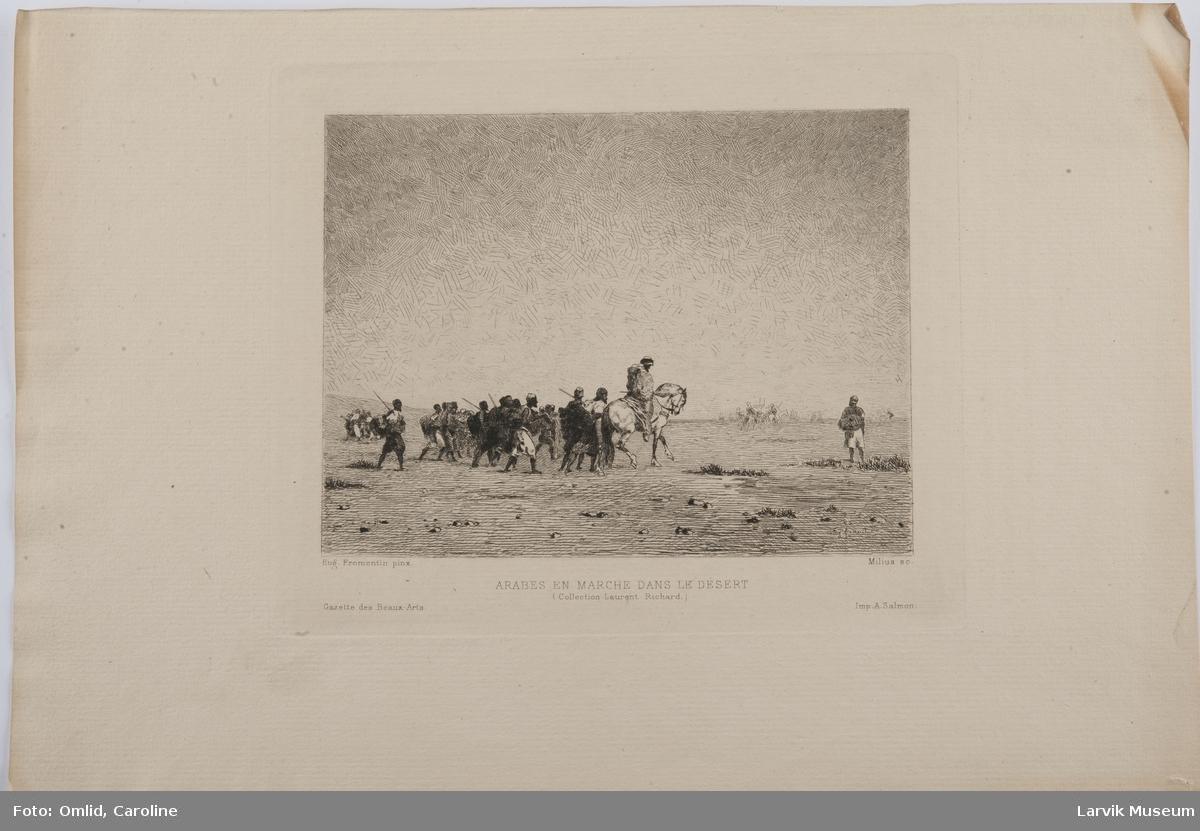 Arbes en marche dans le desert.