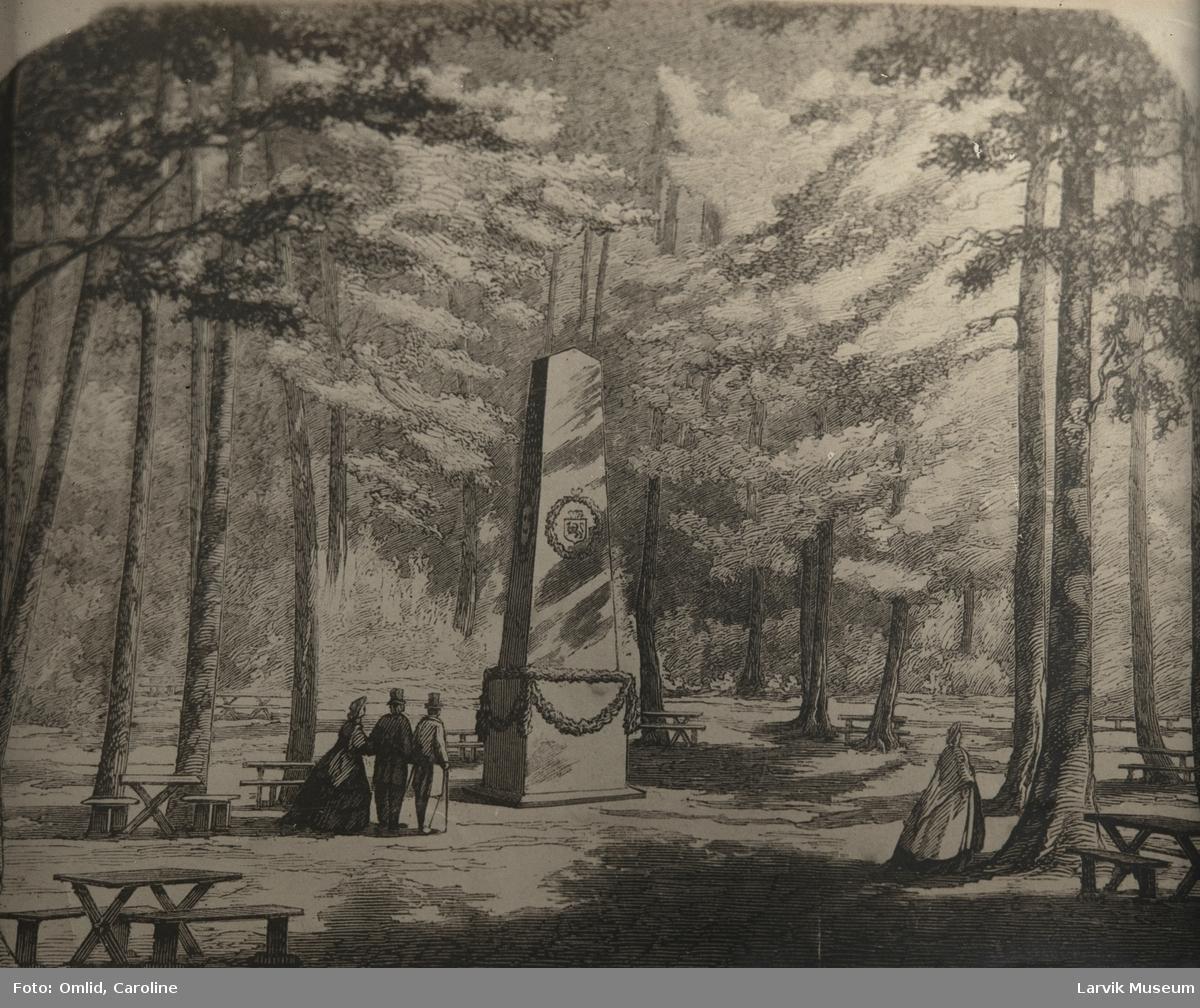 Fra Bøgeskoven ved Laurvik 1864 Bøkeskogen larvik