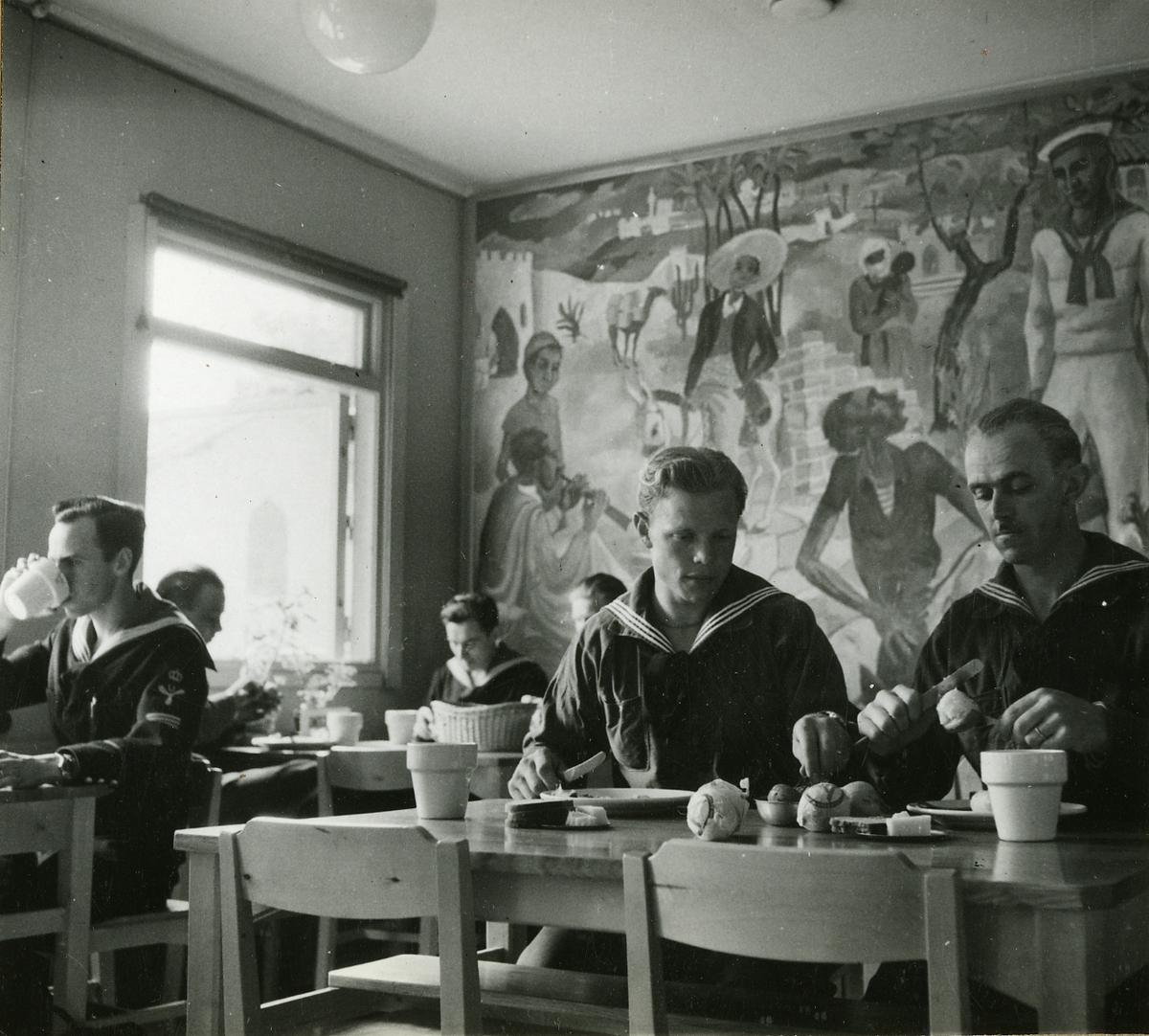 Matsal för underbefäl på Skeppsholmen.