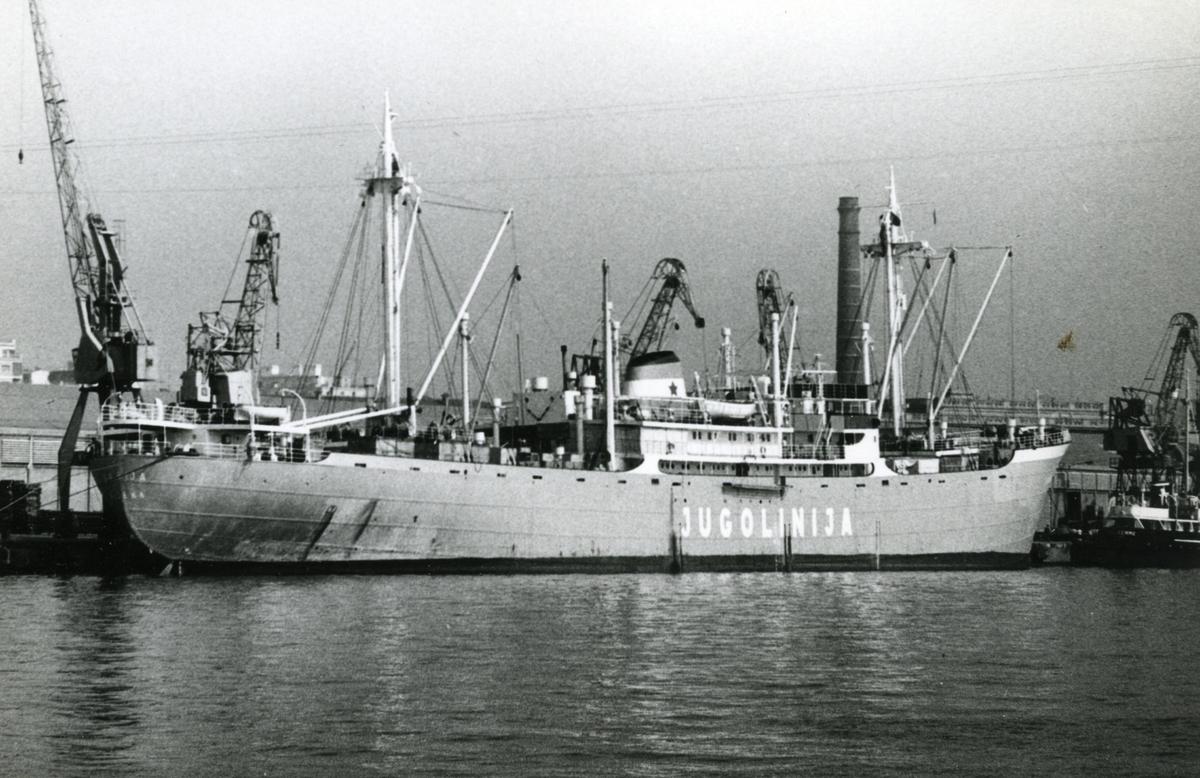 Ägare:/1961-80/: Jugoslavenska Linijska Plovidba. Hemort: Rijeka.
