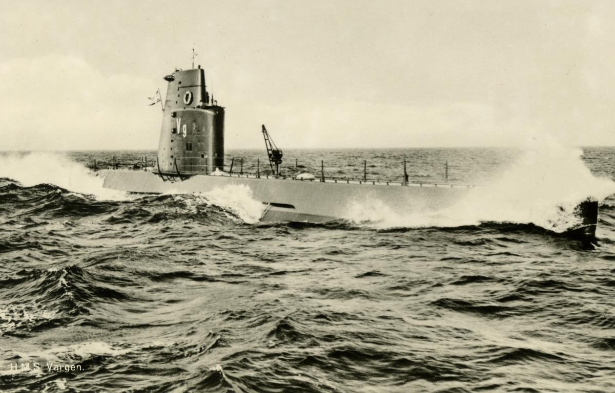 U-båten Vargen (Drakentyp) Vykort