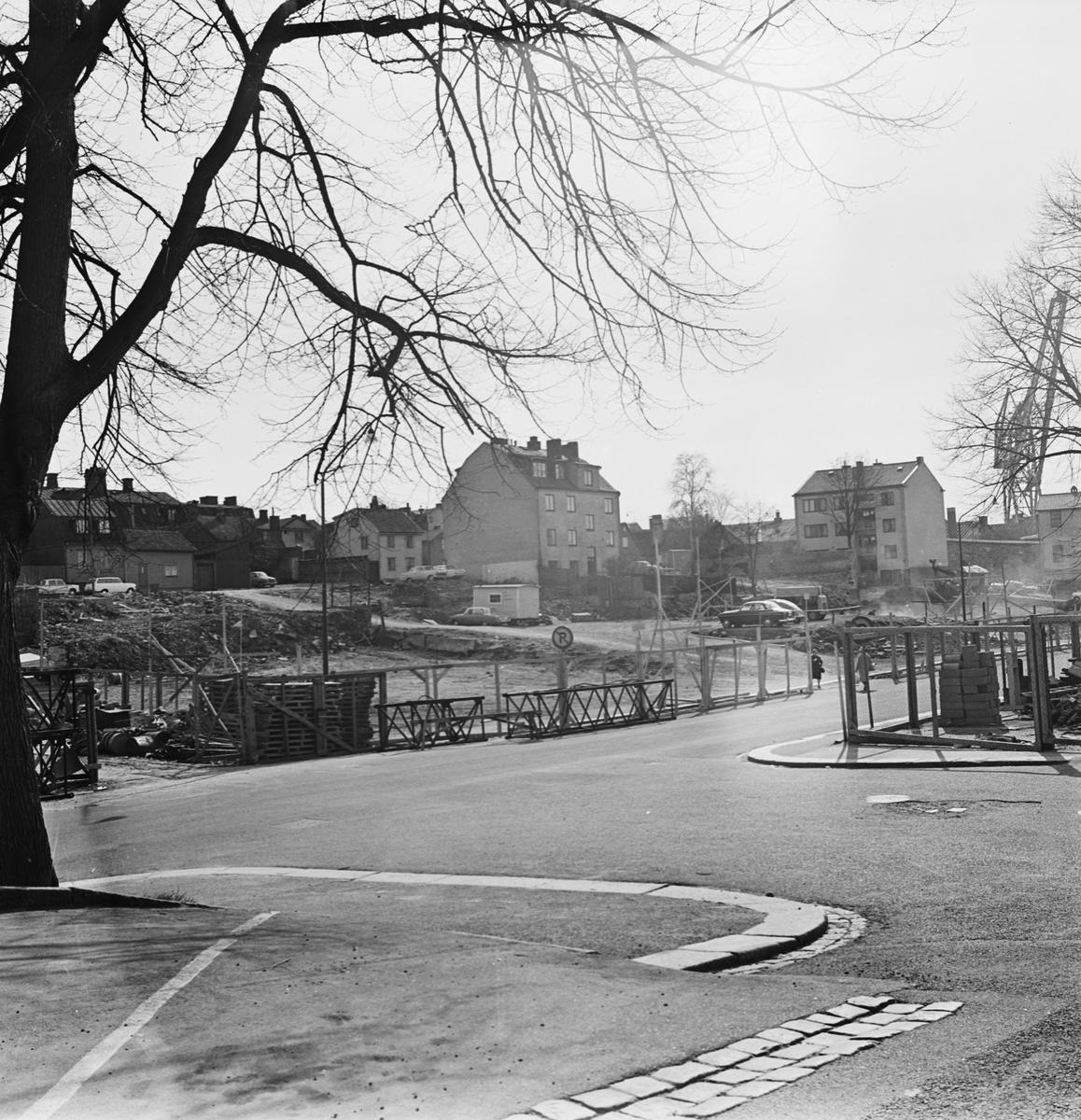 Övrigt: Foto datum: 29/4 1965 Byggnader och kranar Kvarteret pollux
