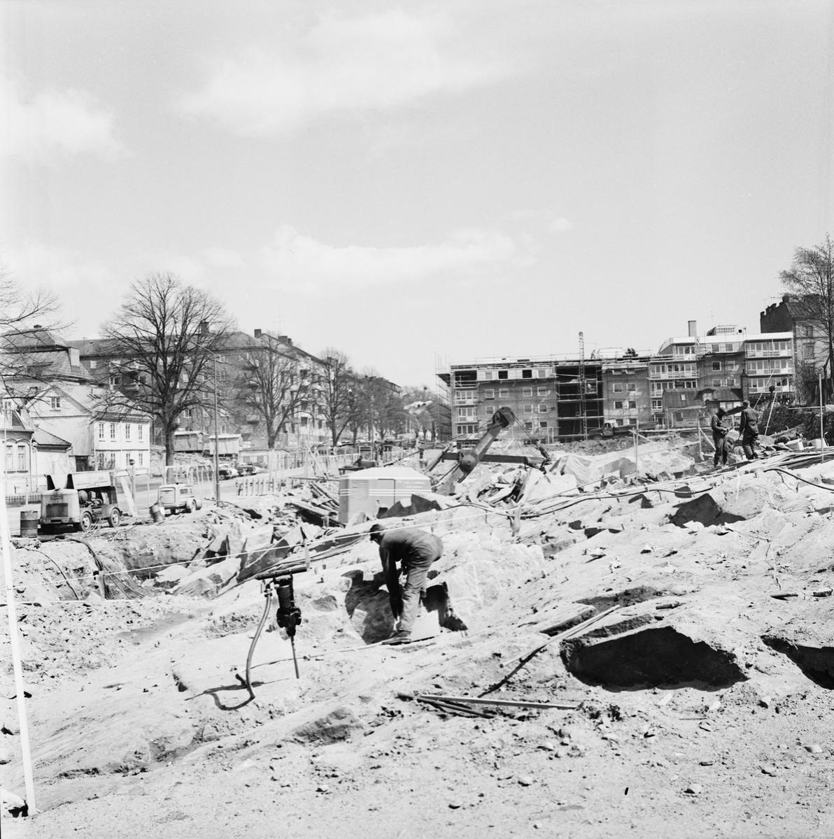 Övrigt: Foto datum: 18/5 1965 Byggnader och kranar Kvarteret Pollux