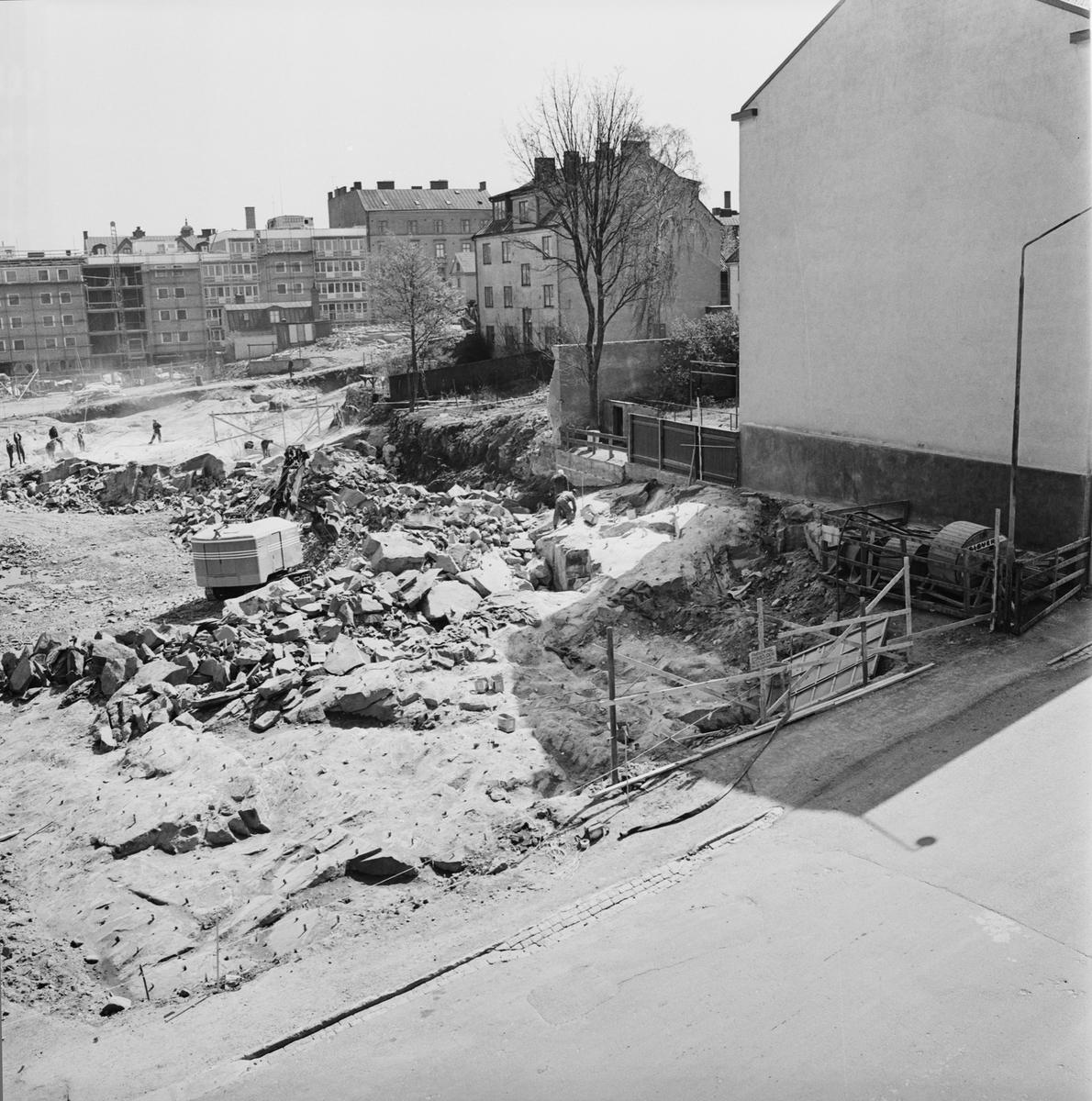 Övrigt: Foto datum: 21/5 1965 Byggnader och kranar Kvarteret Pollux
