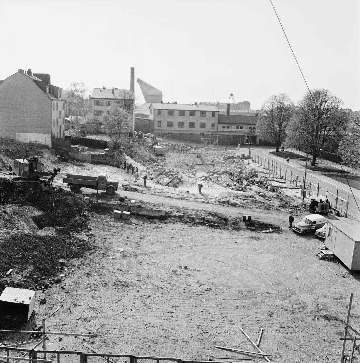 Övrigt: Foto datum: 28/5 1965 Byggnader och kranar Kvarteret pollux