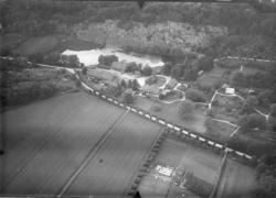 Flygfoto över Sundsby säteri 1919-1920