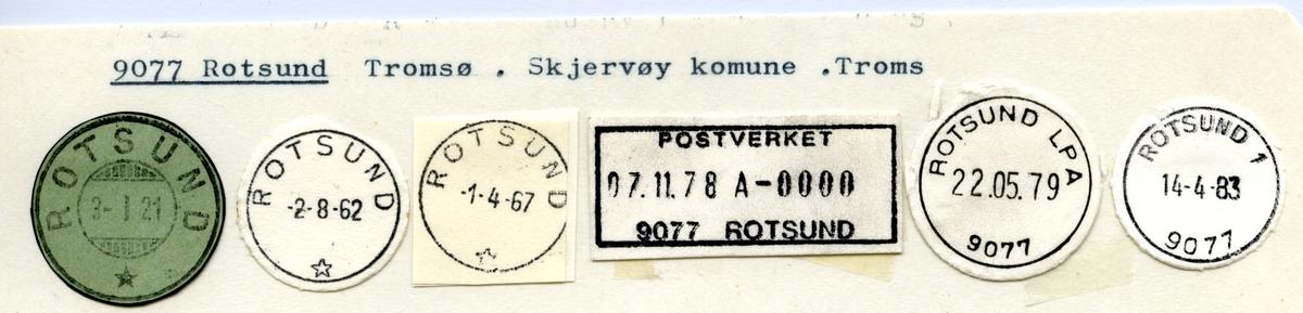 Stempelkatalog 9077 Rotsund, Skjervøy, Troms