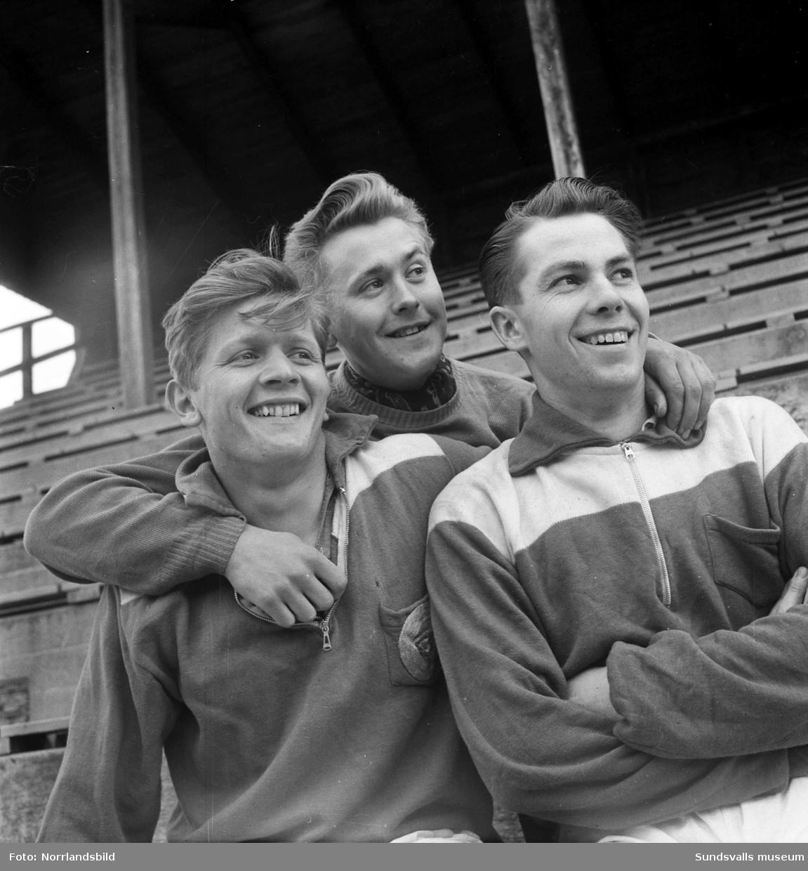GIF Sundsvalls nyförvärv 1951: Erik Westman, Roland Nilsson och B Engelbrekts.