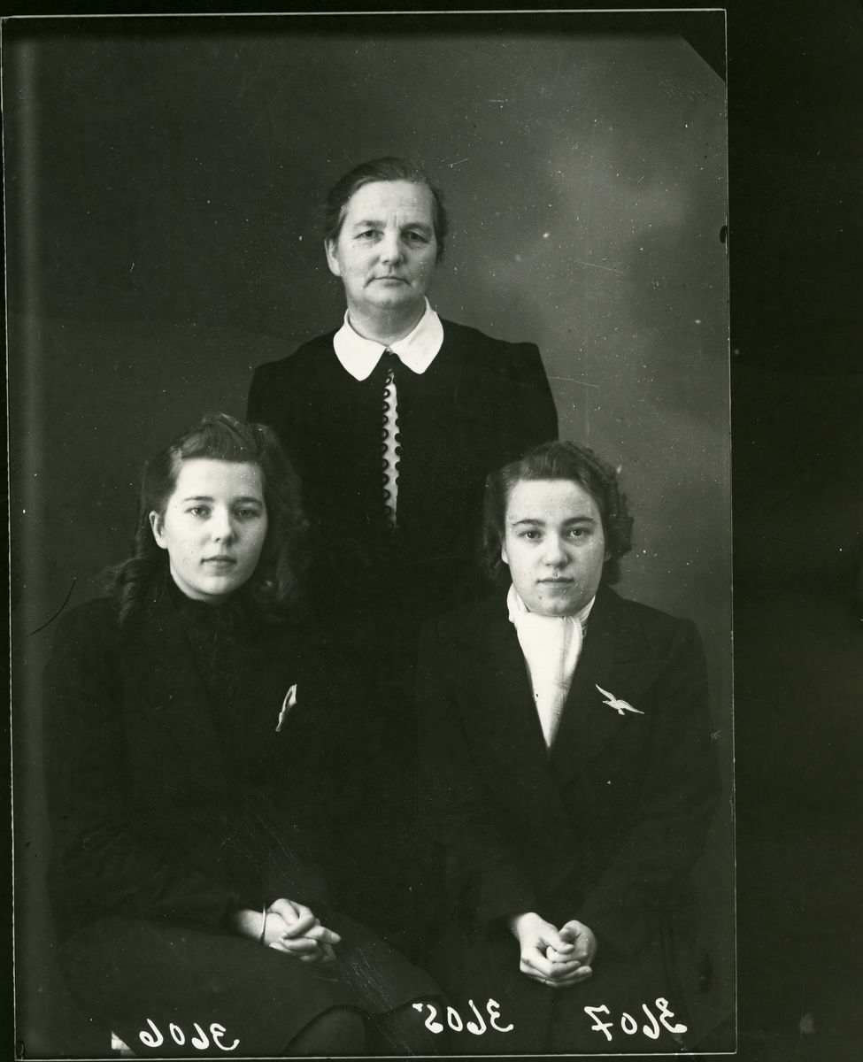 Tre kvinner, lerretbakgrunn