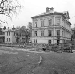 Tinghuset i hörnet Fredsgatan-Östra Långgatan var förmodlige