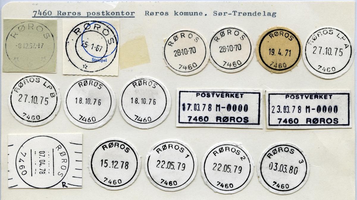 Stempelkatalog 7460 Røros (Røraas), Sør-Trøndelag