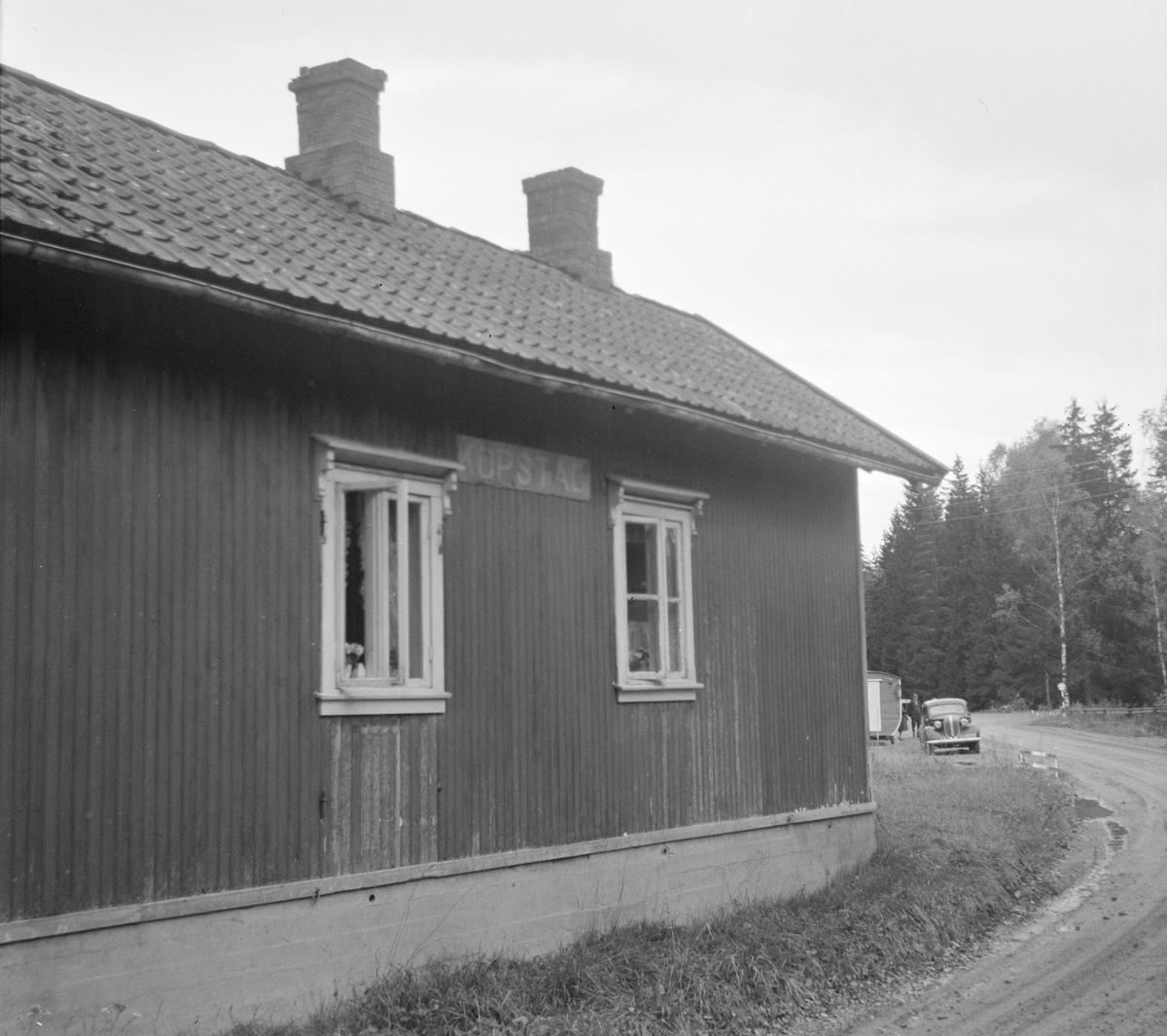 Kopstad stoppested på nedlagte Tønsberg-Eidsfossbanen.