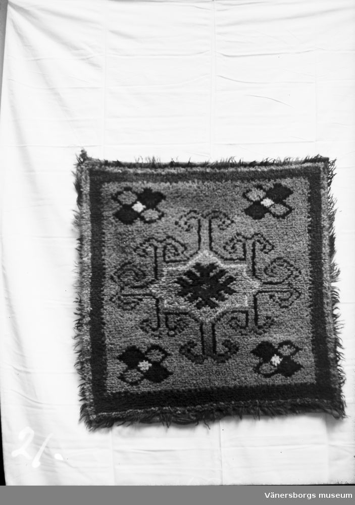 Textilier  Rya  17 Ga  Vänersborgs Museum