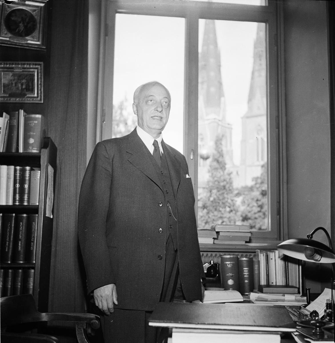 Professor Åke Holmbäck, Uppsala 1955