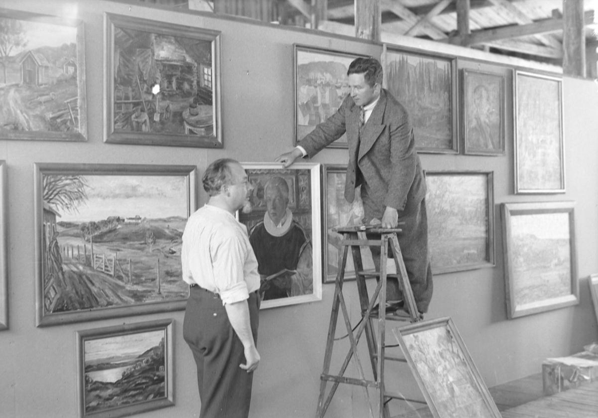 Jubileumsutstillingen i Levanger 1936 - før åpningen