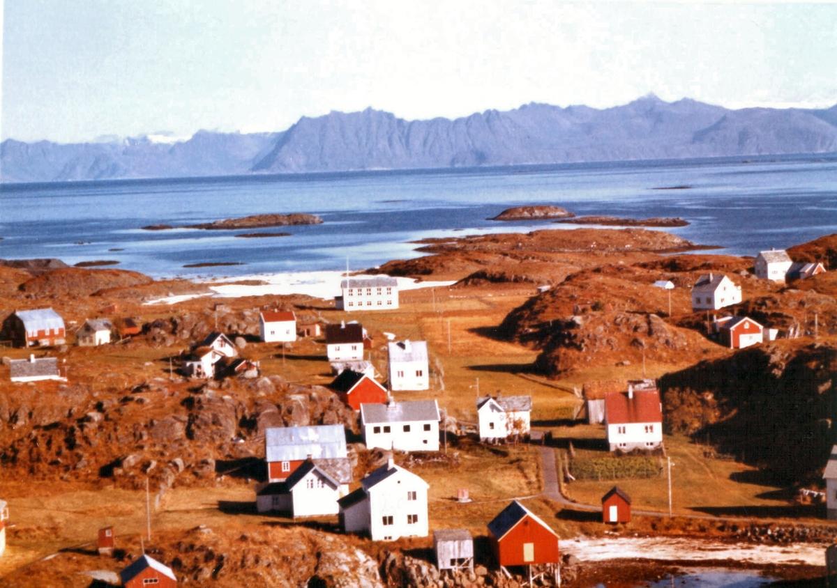 Flyfoto fra Meløyvær.