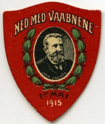 Arbeiderpartiets 1. mai-merke fra 1915