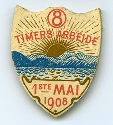 Arbeiderpartiets 1. mai-merke fra 1908