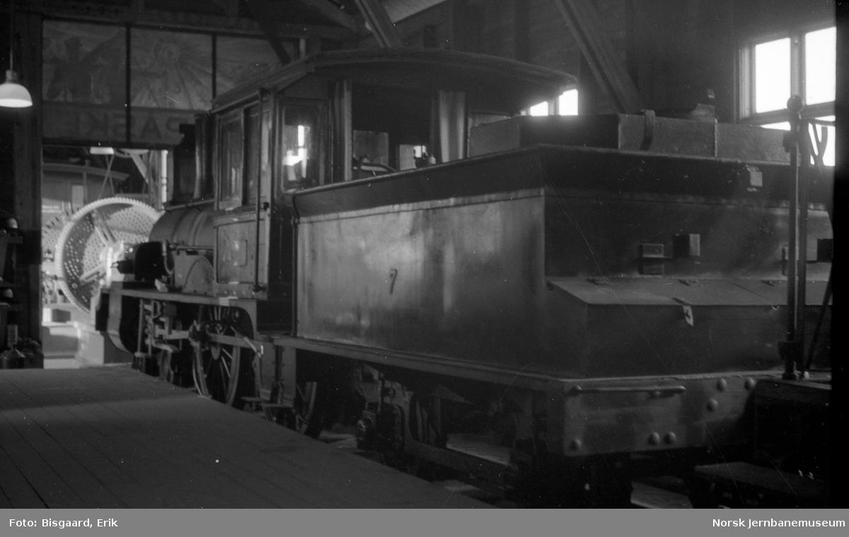Flekkefjordbanens lokomotiv nr. 7 - NSB type XIII - på Jernbanemuseet
