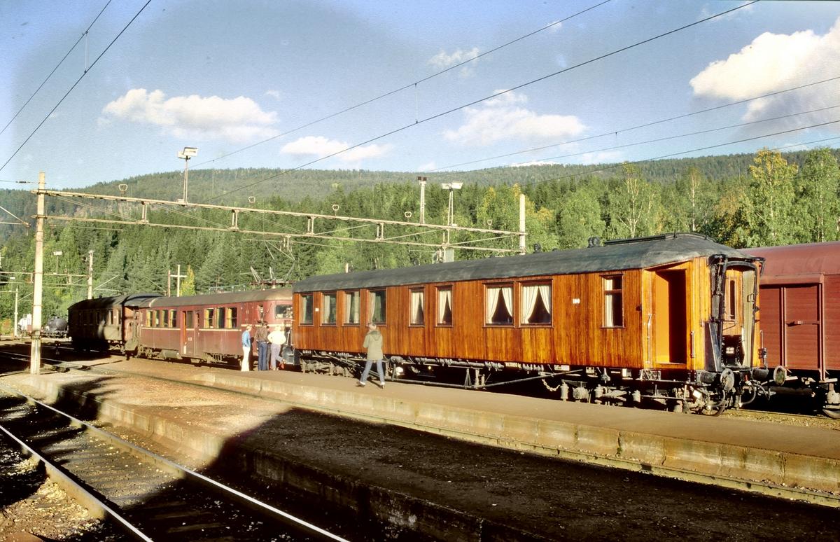 Vogn Ao 100 på Hjuksebø i persontog til Notodden.