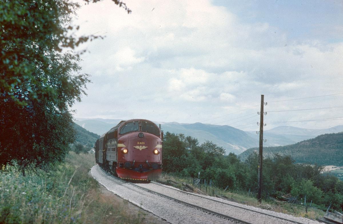 Godstog til Åndalsnes med dieselelektrisk lokomotiv NSB Di 3 625.