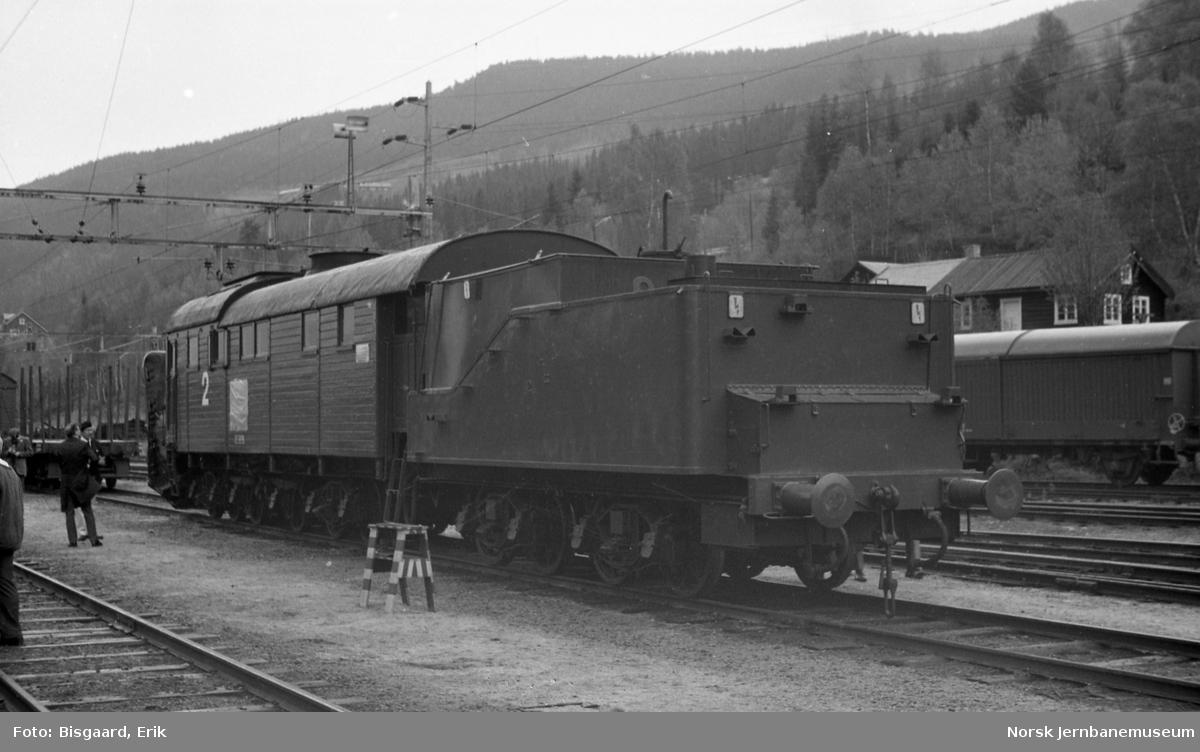 Dampdrevet roterende snøplog nr. 2 på Ål stasjon