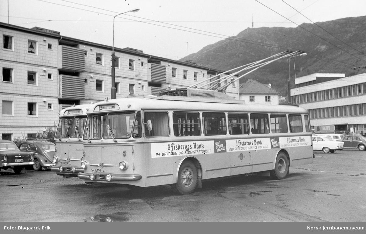 Trolleybusser fabrikat Skoda i Bergen