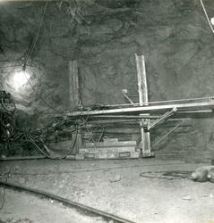 Vannkraftutbygging, inne i tunnelen.