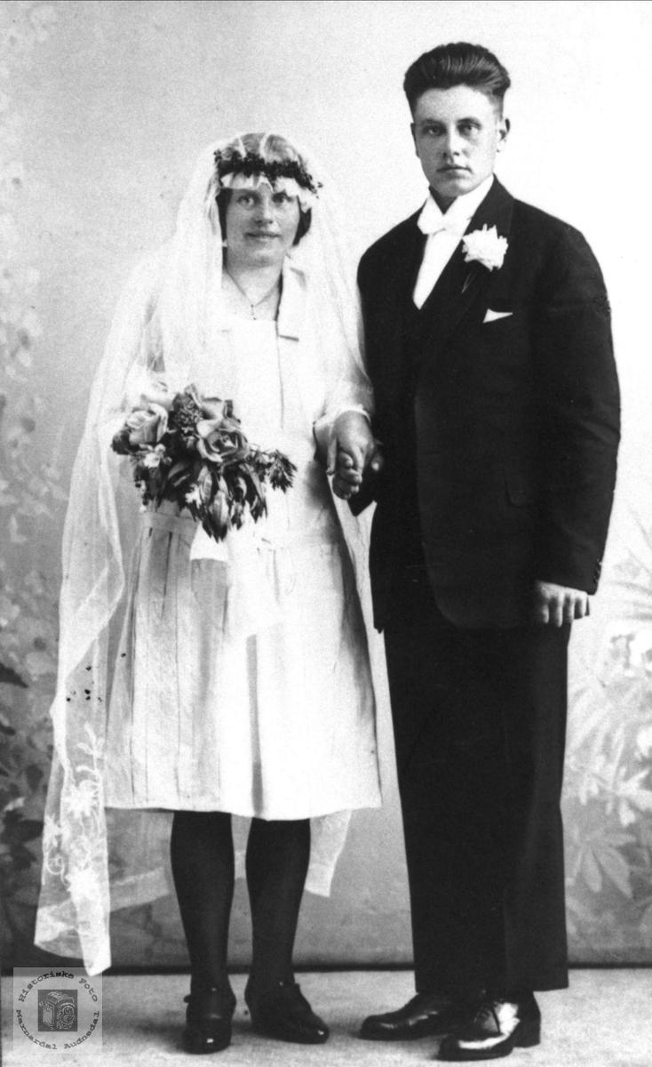 Brudebilde av Gunhild og Trygve Strisland