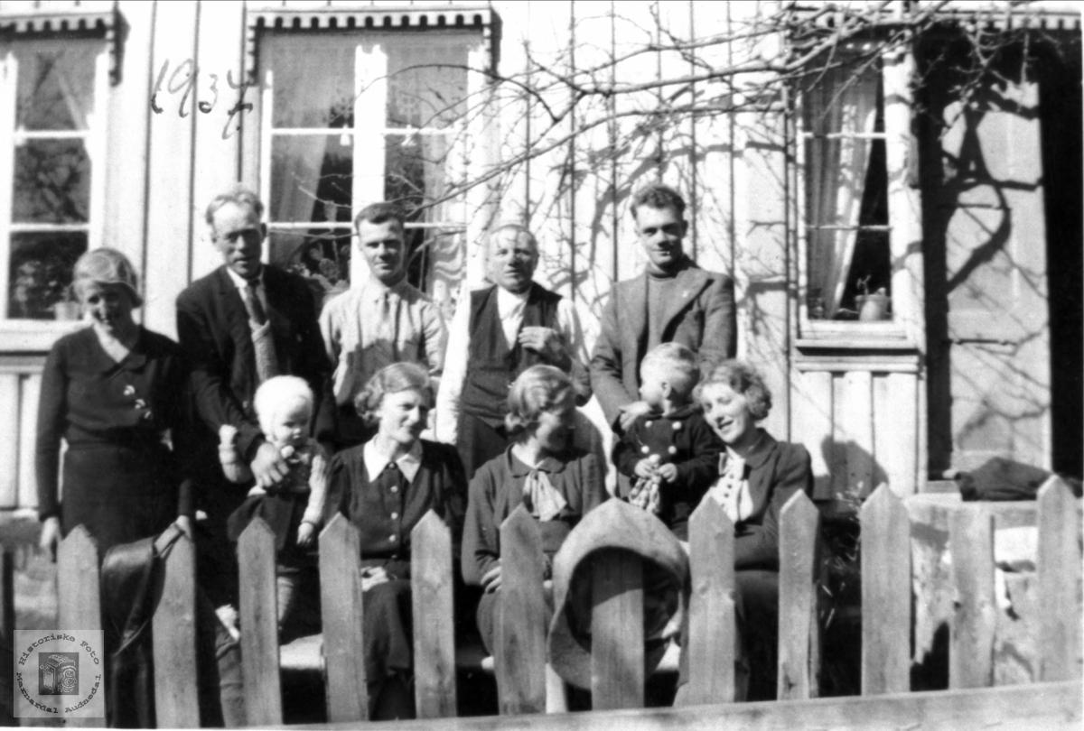 Familiebilde Steinslandsfamilien