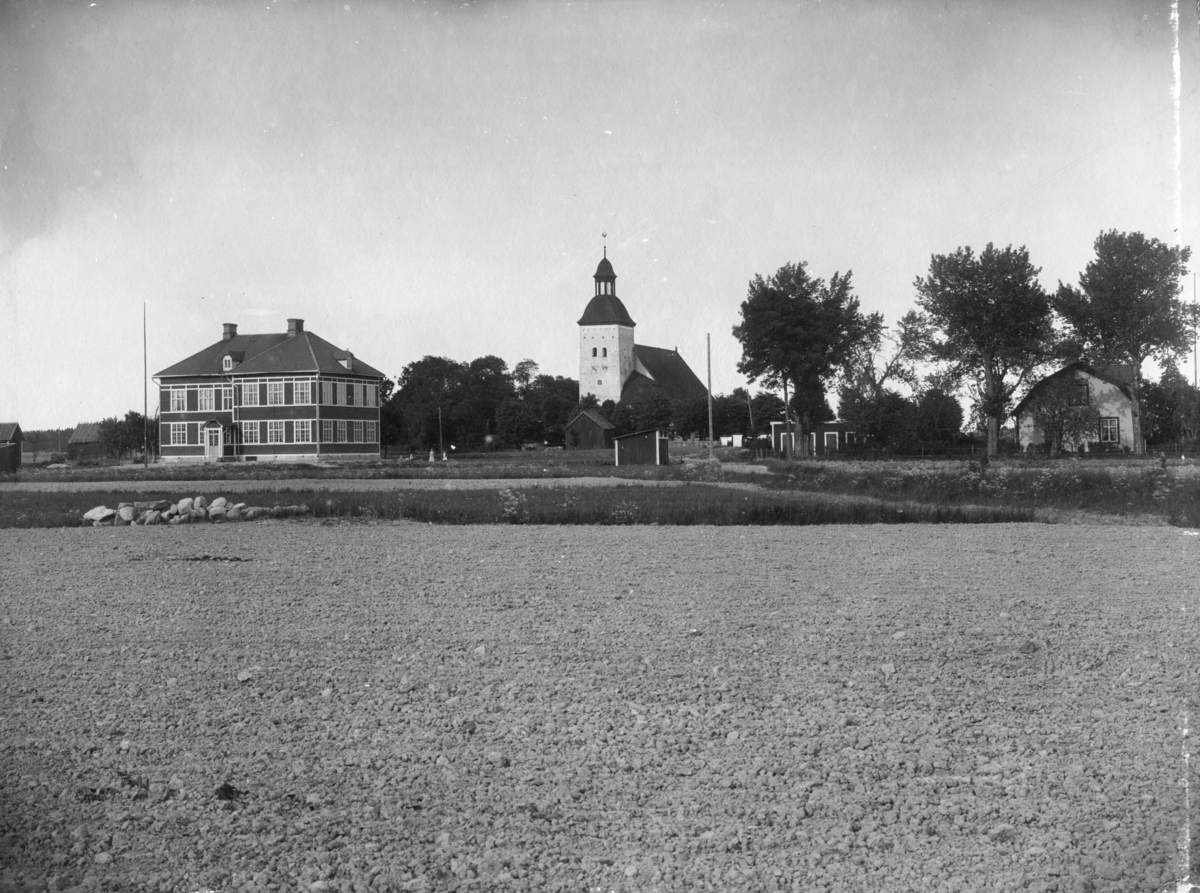 Flygfoto ver Lundby, Tillinge socken, Uppland 1936