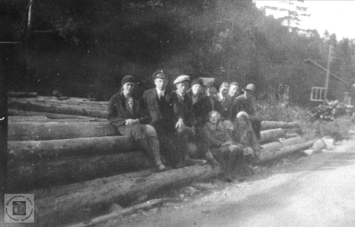 Elevflokk ved privat middelskole på Laudal 1931 - 32