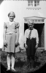Portrett Søskenene Todne og Knut.