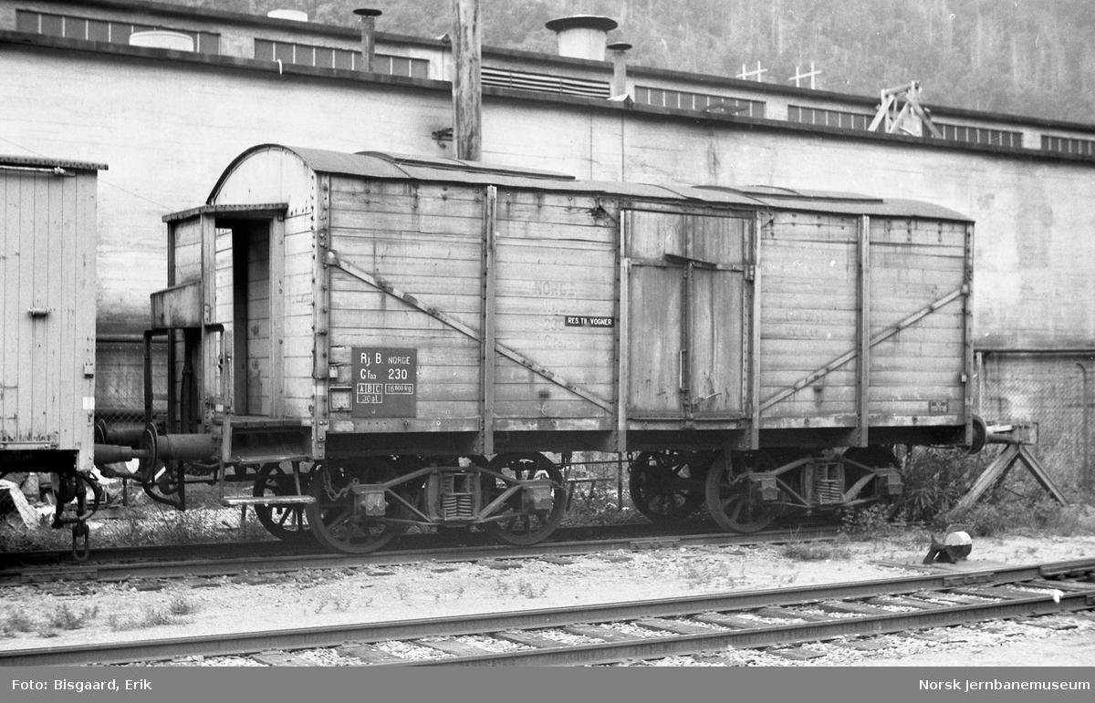 Rjukanbanens godsvogn litra Gfo3 nr. 230