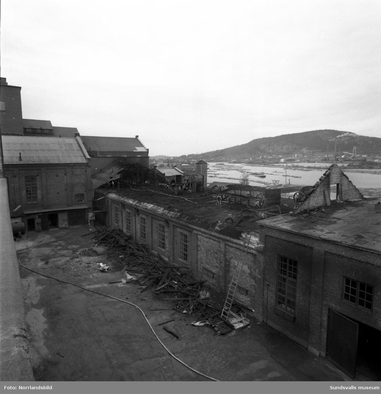 Eldsvåda i Essviks fabrik.