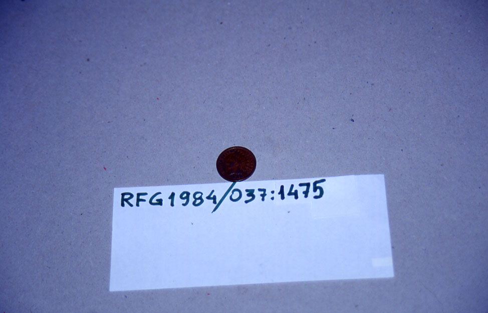 Form: One cent 1885 Unites States of America