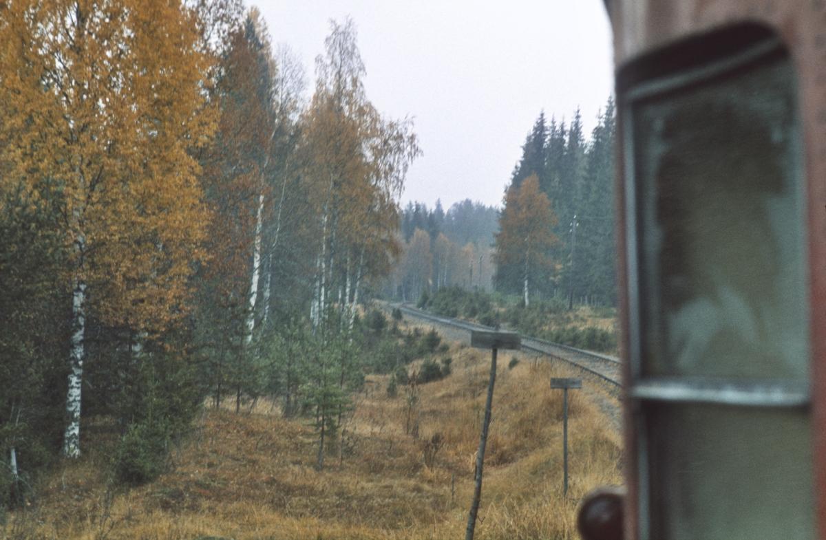 Skreiabanen mellom Reinsvoll og Bøverbru, sett fra ekstratog for Norsk Jernbaneklubb til Skreia.