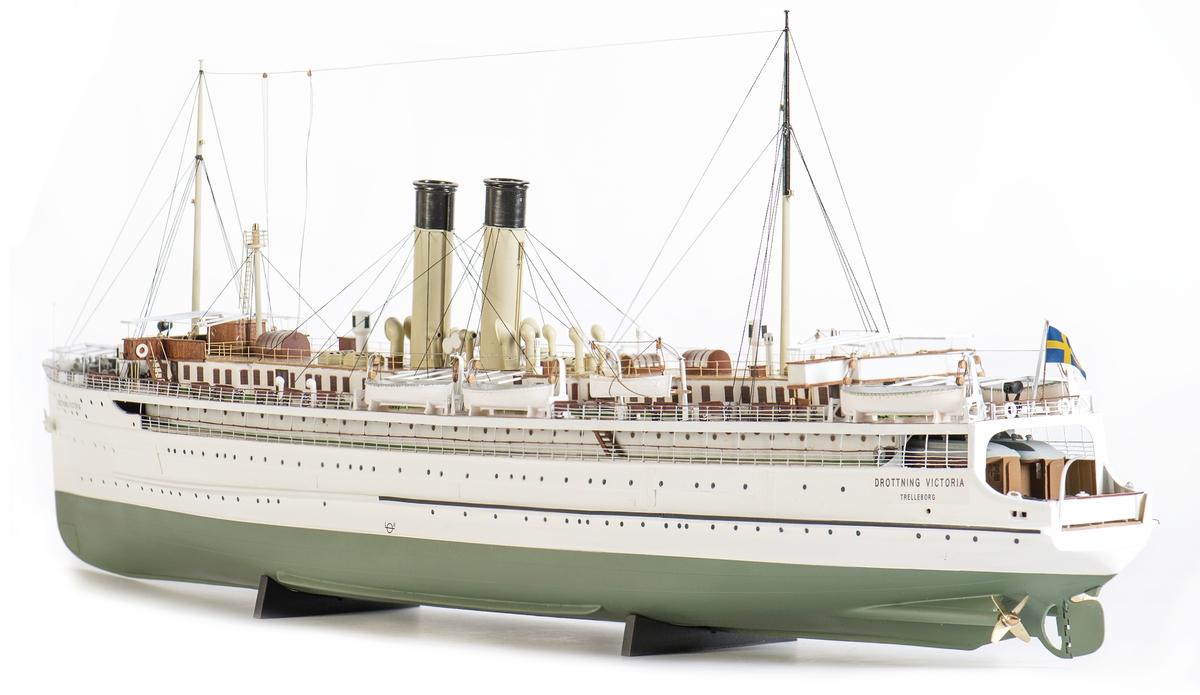 Fartygsmodell av tågfärjan s/s DROTTNING VICTORIA byggd 1909.