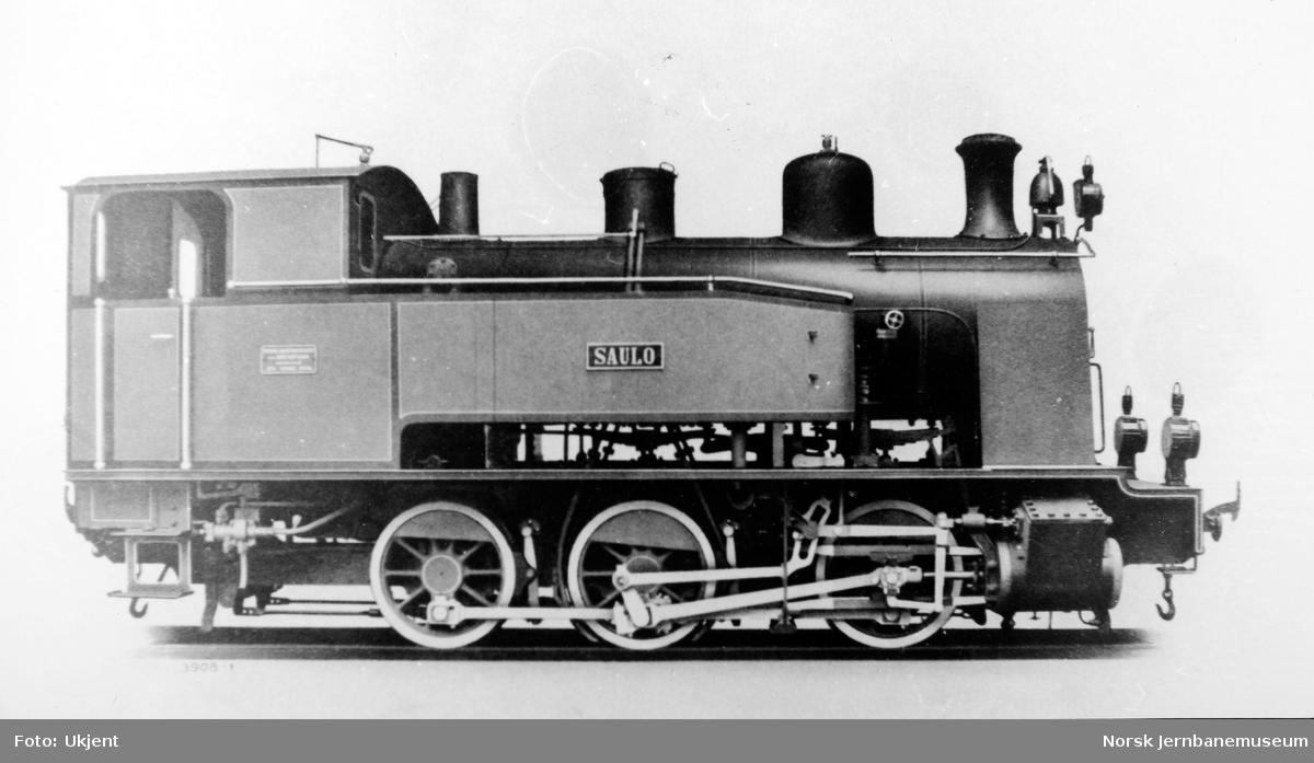 "Damplokomotivet ""SAULO"" på Sulitjelmabanen"