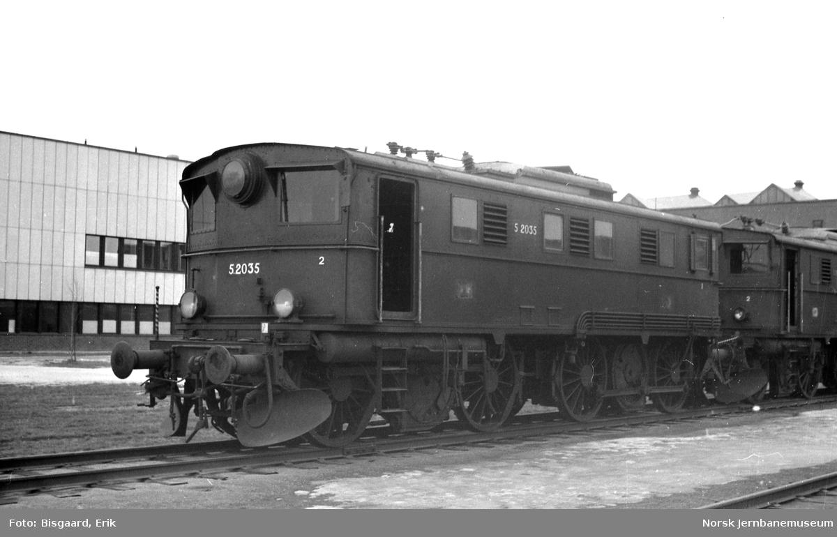 Elektrisk lokomotiv El 5 nr. 2035 på Verkstedet Grorud