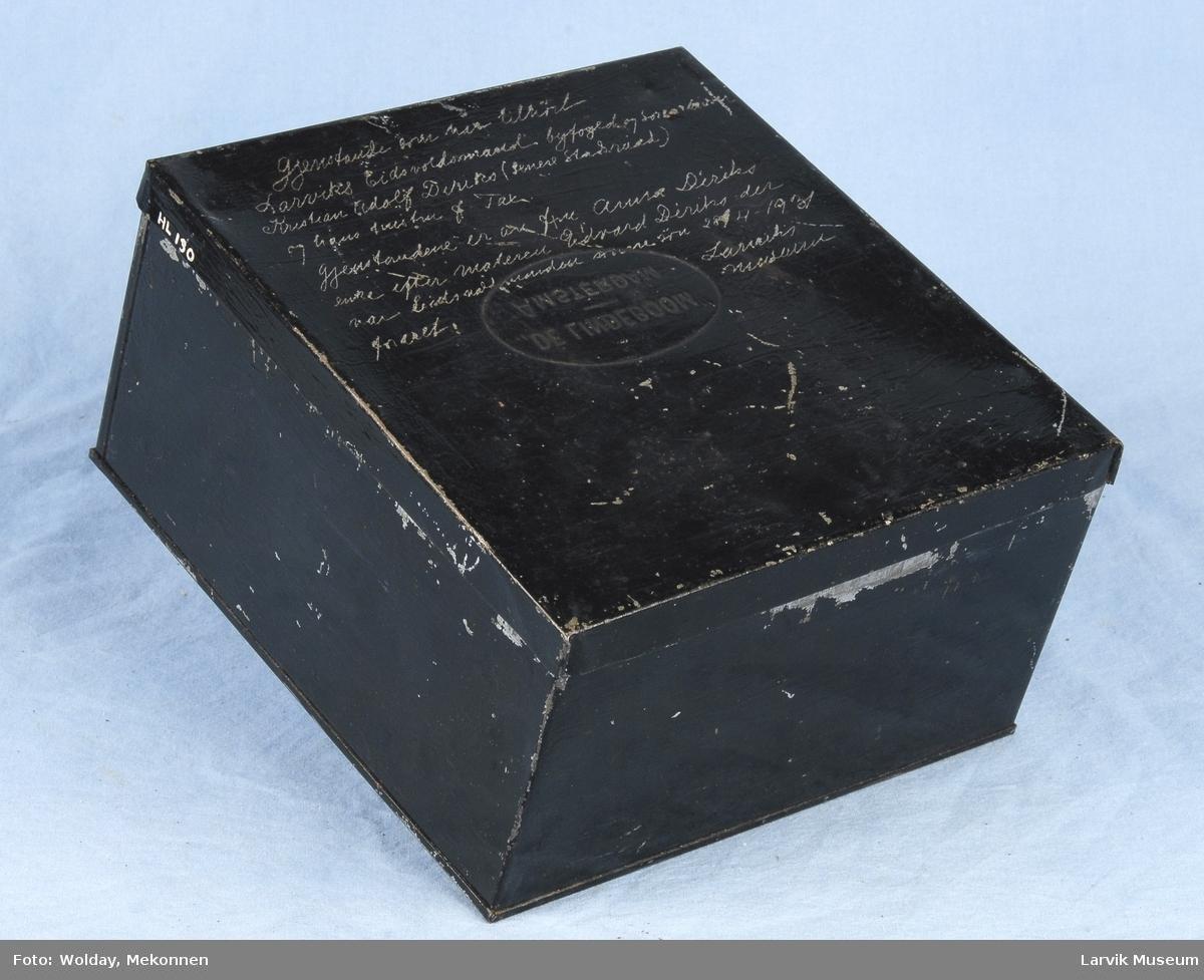 Form: kubeformet boks med lokk